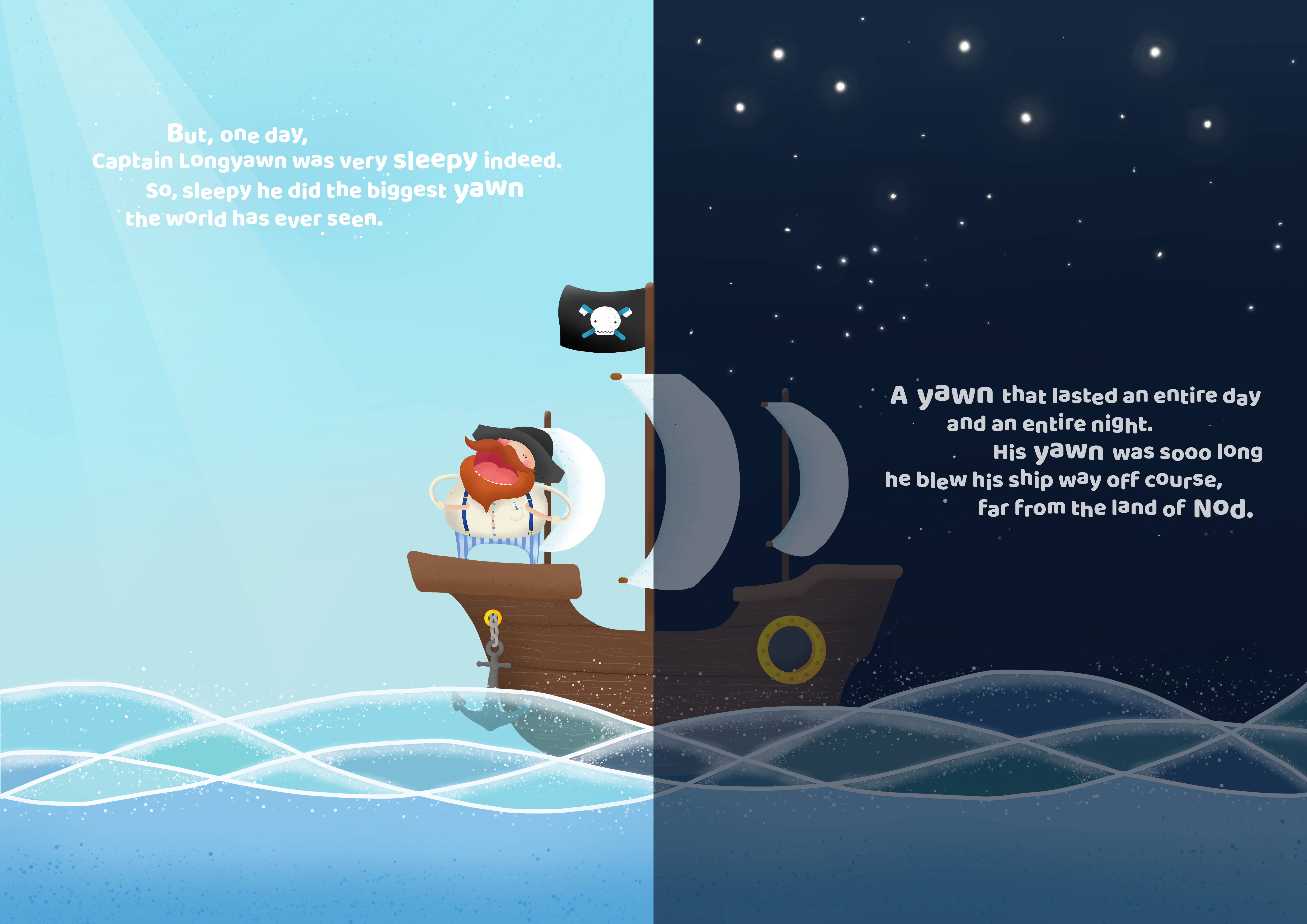 Ship_and_water_day and night